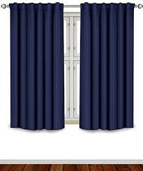 Navy Window Curtains Utopia Bedding Blackout Room Darkening And Thermal