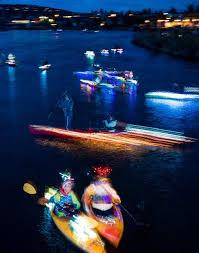 Kayak Night Lights On The Deschutes Kayaks And Christmas Lights