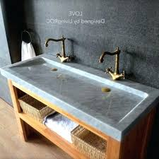 trough sink with 2 faucets good trough bathroom sink with two faucets and trough sink with 2
