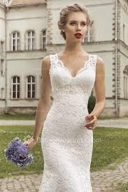 v neck lace mermaid wedding dresses 2017 lace up sleeveless simple
