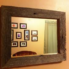 wood framed best rustic wood framed mirror products on wanelo