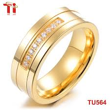 gold rings design for men 8mm inlaid gold ring design for men tungsten carbide saudi