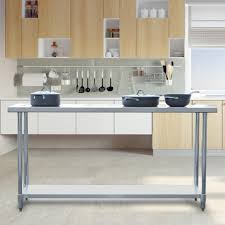 home depot stainless steel table sportsman stainless steel kitchen utility table sswtable72 the
