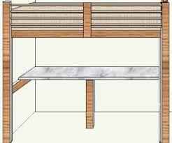 Plans For Loft Bed With Desk by How To Build A Budget Loft Bed Free Plans Part 1