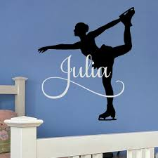 princess wall decal etsy ice skating wall decal figure personalized decor