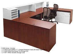 Contemporary Reception Desks White 2 Tone Reception Desks In Stock Free Shipping