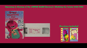 barney u0027s waiting for santa extremely rare 1995 vhs opening