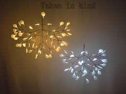 branch chandelier small heracleum leaves led pendant l tree branch chandelier
