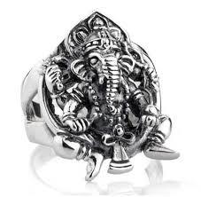 men big rings images India ganesha men big rings 925 sterling silver lucky ring vintage jpg