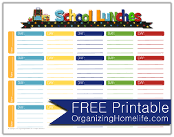 lunch box planner template school lunch ideas a free school lunches printable planner