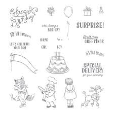 Birthday Delivery Birthday Delivery Photopolymer Stamp Set By Stampin U0027 Up