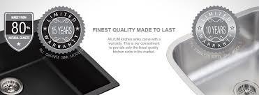 Single Kitchen Sinks Piccolo 457mm German Engineered Premium Granite Single Bowl