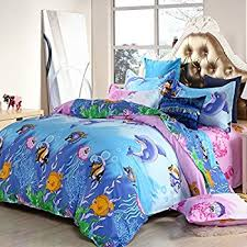 Fish Duvet Cover Amazon Com Arightex 3d Ocean Bedding Blue Jellyfish Duvet Cover