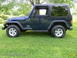 dark blue jeep 2006 jeep wrangler sport 4x4 in midnight blue pearl photo 3