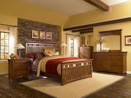 Oak Bedroom Furniture Mission Style Broyhill Artisan Ridge Slat Bed
