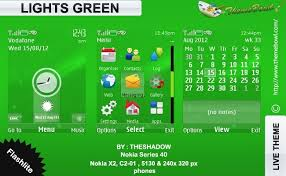 nokia 5130 menu themes lights green theme for nokia 5130 c2 01 x2 00 and 240 x 320 px