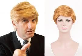 Donald Trump Halloween Costume Aliexpress Buy Donald Trump Gold Wig Costume Comb Hair