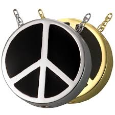 urn pendant peace sign urn pendant jewelry for ashes memorial gallery
