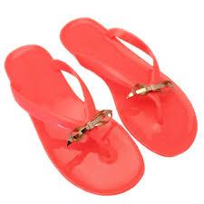 buy ted baker womens orange heebei slim bow flip flops at hurleys