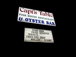 Captain S Table Panama City Captain U0027s Table Sign Picture Of Captain U0027s Table Fish House