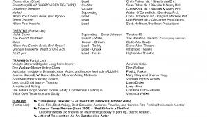 Theatre Resume Template Word Acting Resume Template Resume Templates For Actors Actor Resume