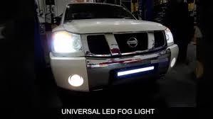 Nissan Titan Grill Spec D Universal Led Fog Light Installation Video Youtube