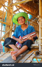 happy thai farmer enjoined his radio stock photo 307950074