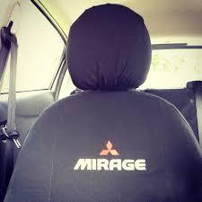 mitsubishi logo seat covers with mitsubishi logo airbag safe mirageforum com