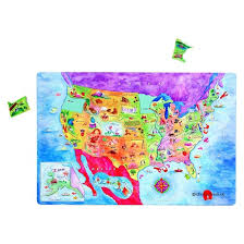 us map puzzle dowling magnets magnetic usa map puzzle target