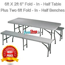 folding table with bench cing tables tables chairs cing ireland