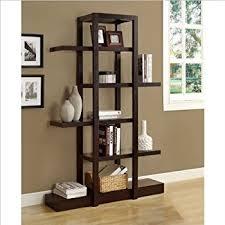 Quirky Bookcase Amazon Com Baxton Studio Barnes 6 Shelf Modern Bookcase Dark