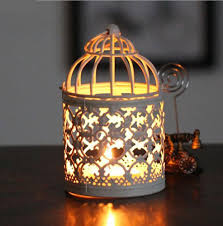 birdcage decorative moroccan lantern votive candle holder hanging