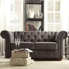 Grey Leather Tufted Sofa furniture elegant interior furniture design with cozy tufted