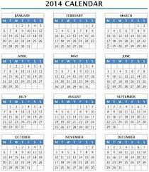 8 best images of 2014 1 page calendar year calendar 2014