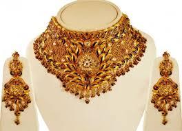 big necklace sets images 22kt gold choker necklace set ajns63723 us 6 698 22k gold jpg