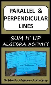 parallel perpendicular lines sum it up activity