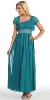 dinner party long teal green one shoulder dress chiffon empire