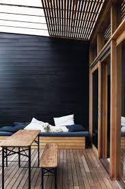 outdoor deck black wall timber jericho exterior pinterest