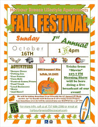 fall festival october 16th at harbour breeze lifestyle apartments