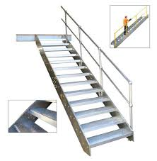 high quality used industrial painting meatal steel stair outdoor