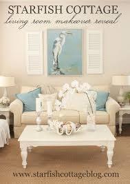 coastal living rooms coastal living room makeover starfish cottage coastal living