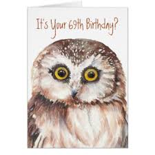 69th birthday card 69th birthday greeting cards zazzle