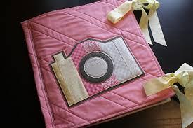 fabric photo album machine applique fabric photo album moda bake shop