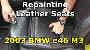 Used Cars With Leather Interior How To Paint Bmw M3 Leather Seats Youtube