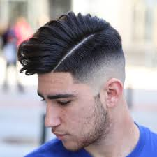 center parted line up haircuts crispy hard part hairstyle for