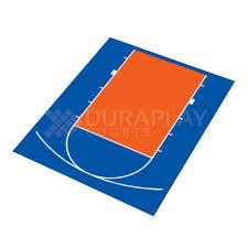 Backyard Basketball Half Court Duraplay 20 Ft 5 In X 24 Ft 7 In Half Court Basketball Kit 1h