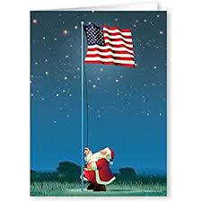 american flag and tree box of 16 patriotic