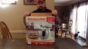 Kitchenaid Classic Mixer by Kitchenaid Classic Series Mixer Ksm75wh1 Unboxing And Initial