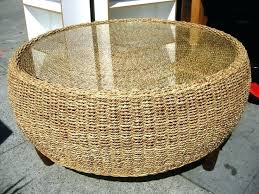 Wicker Storage Ottoman Coffee Table Wicker Ottoman Coffee Table Cfee Cfee Wicker Storage Ottoman
