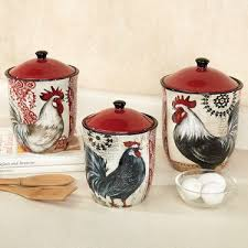 rooster kitchen canisters 229 best kitchen canisters vintage images on kitchen